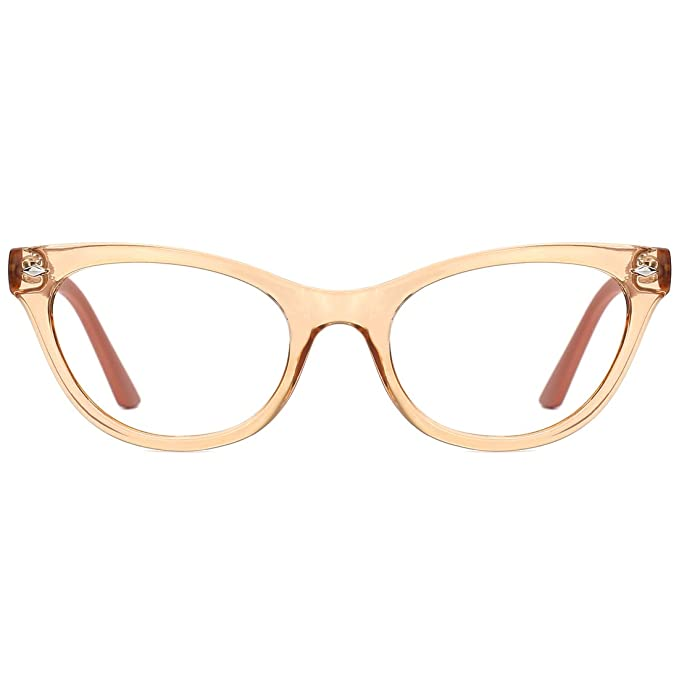 0d6a5570ed4c Amazon.com  modesoda Eyewear for Women Retro Fairy Cateye Glasses Frame  with Non-prescription Clear Lens  Clothing