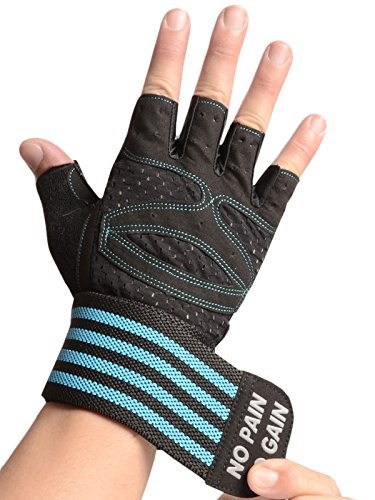 American Trends Workout Gym Gloves Anti-Slip Breathable Fabric for Powerlifting, Weight Training, Biking, Cycling