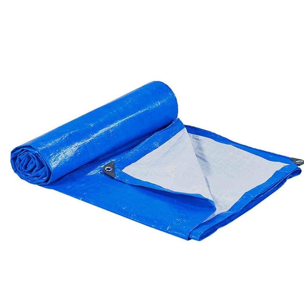 SZ JIAOJIAO Plane Polyethylen-Kunststoff Geflochten Blau Und Weiß PE Tuch Dicken Deckel Metall Ösen Plane,8M×12M