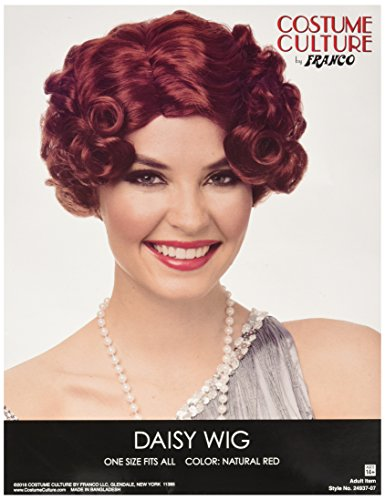 Costume Culture Women's Daisy Wig, Natural red, One Size