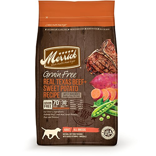 Price comparison product image Merrick Grain Free Real Texas Beef + Sweet Potato Recipe Dry Dog Food,  12-Pound