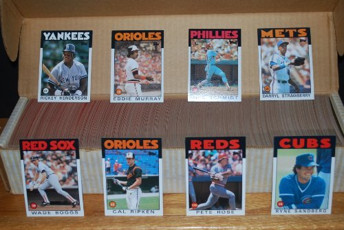 Top 9 1986 topps baseball cards complete set for 2019