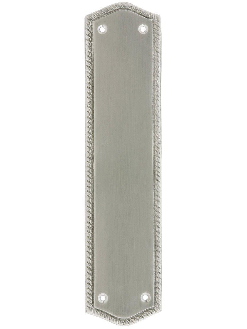 BRASS Accents A06-P0250-619 Trafalgar Push Plate 2-3/4'' x 11'', Satin Nickel