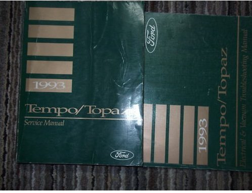 (1993 Mercury Topaz Repair Service Shop Manual Set OEM (service manual, and the electrical and vacuum troubleshooting manual.))
