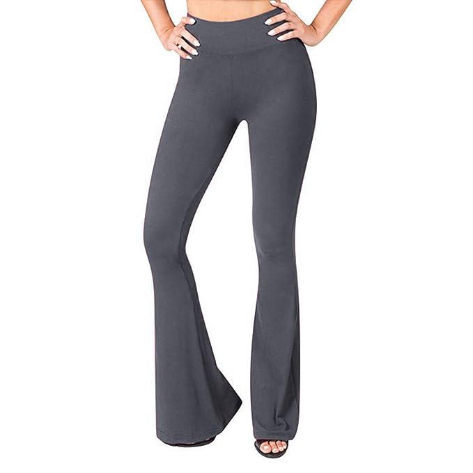 RISTHY Pantalones Anchos Mujer Pantalones Yoga Casual ...