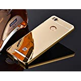 mhub Luxury Mirror Effect Acrylic back + Metal Bumper Case Cover for Xiaomi Redmi 3S/Redmi Prime/Redmi 3 Pro - (GOLDEN)