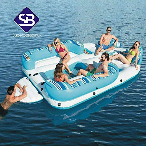 Hydro-force 13ft 6 Person Bahama Wave Inflatable Island