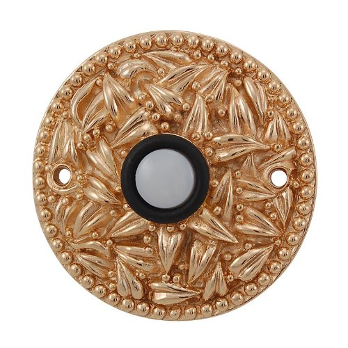 (Vicenza Designs D4013 San Michele Round Doorbell, Polished Gold)