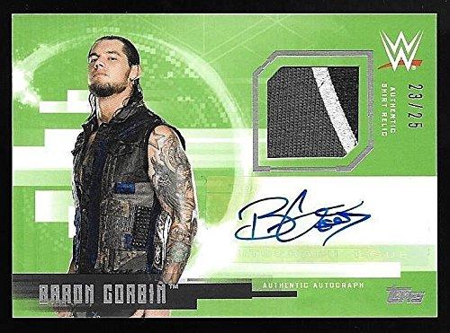 2017 Topps WWE Undisputed Green #BC Baron Corbin Shirt Relic Autograph - Shirts Baron