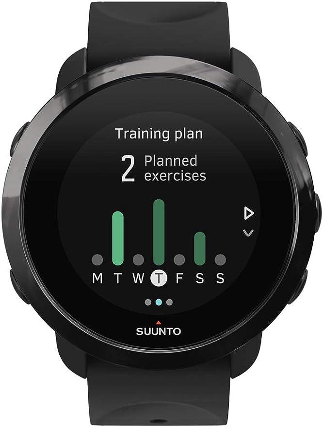 Suunto 3 Fitness - Reloj Multideporte con GPS y pulsómetro incorporado, Pantalla Matricial, Unisex Adulto, Negro/Negro (All Black), Talla Única: Amazon.es: Deportes y aire libre