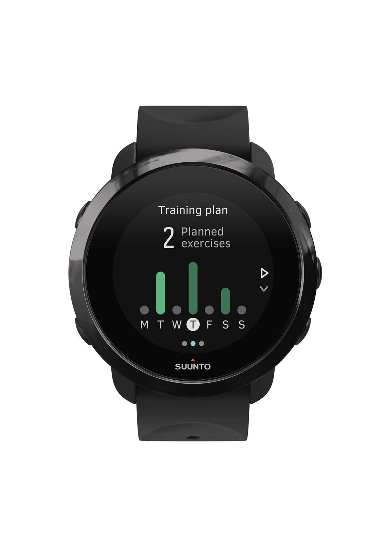Suunto SS050020000 3 Fitness - Reloj Multideporte con GPS y pulsómetro incorporado, Pantalla Matricial, Unisex Adulto, Negro/Negro (All Black), Talla Única: ...