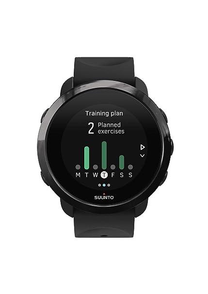 Suunto SS050020000 3 Fitness - Reloj Multideporte con GPS y pulsómetro incorporado, Pantalla Matricial,
