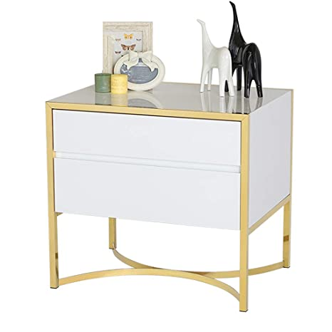Amazon.com: End Tables Bedside Table Drawer Storage Cabinet ...
