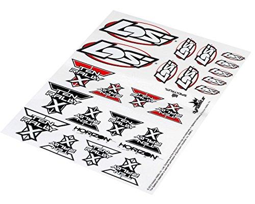 Losi 239000 Sticker Sheet: Ten Rally-X