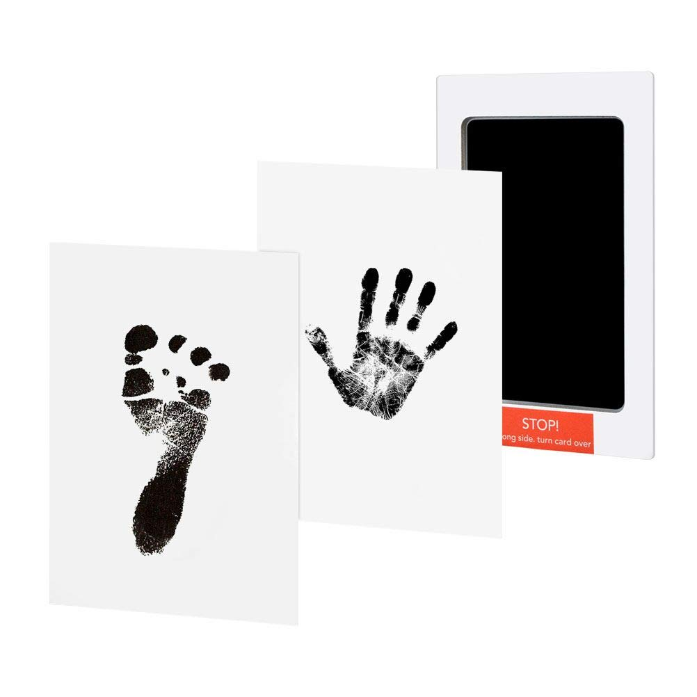 Baby Handprint and Footprint Ink Pad Safe and Non-Toxic Prints Paper and Clean Touch Ink Pad to Create Baby Hand and Foot Prints, Amazing Baby Shower Gifts