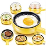 Glive's Electric Boiler Steamer Non Stick Frying Pan Roaster Multipan Omelette Maker Egg Cooker (7 Eggs)