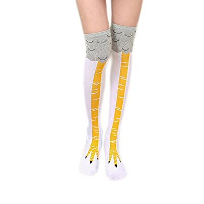 3D Cartoon Crazy Funny Chicken Legs Boots Knee Thigh High Novelty Socks