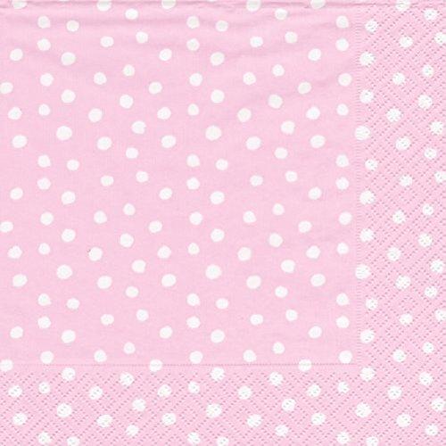 Paper Napkins Baby Shower Ideas Girls Birthday Party Pink Dots Luncheon Dessert Pk (Dots Luncheon Napkins)