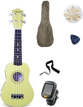 ADATEN Ukelele Guitarra de 4 Cuerdas Instrumentos Principiante ...