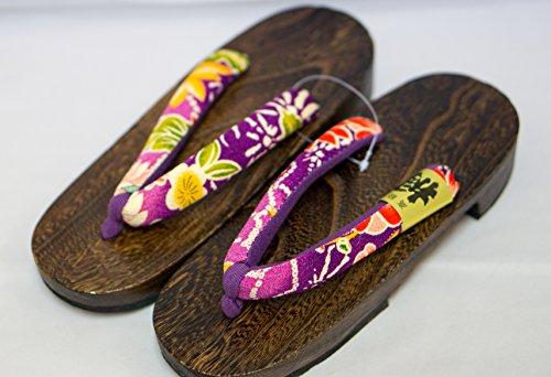 [Giappone Realizzato] Geta Paulownia Legno Sandali tradizionale Calzature Oogiku design Taglia M