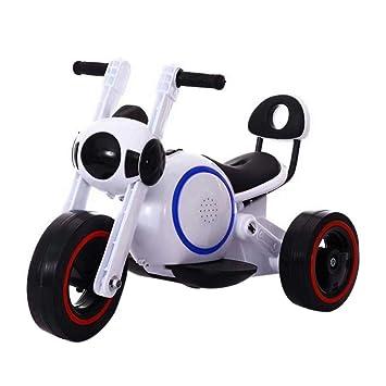TH Motocicleta Eléctrica para Ni?os Juguete 3 Ruedas Eléctrico Bicicleta De Coche 6V Batería Blanco,White: Amazon.es: Deportes y aire libre