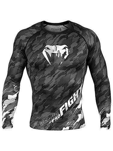 Venum Men's Tecmo Long Sleeve Rash Guard MMA BJJ Dark Grey Large rash guard mens bjj 6