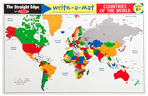 Melissa Amp Doug Write A Mat Countries Of The World