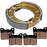 Caltric FRONT BRAKE PADS & REAR SHOES Fits YAMAHA XV1100 XV1100S XV-1100S Virago 1100 1986-1999