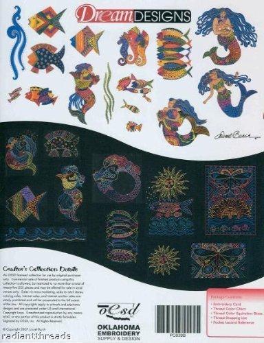 (Bernina Artista Embroidery Machine Memory Card Laurel Burch Ocean Songs)