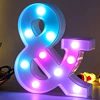 Sweet Colorful LED Letter Lights Light Up Letter Signs-Christmas Night Light-Party Wedding Birthday Bar Home Lighting…