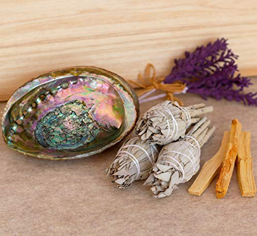 Home Cleansing and Blessing Kit - Smudging Chakra Balancing, White Sage, Palo Santo Sticks, Abalone Shell, Candle, Healing Incense, Good Luck, Purifying, Protection, Spiritual Cleansing, Meditation by My Lumina (Image #2)