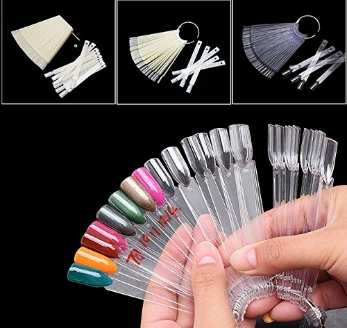Brendacosmetic Transparent& White 4 Set 200 Tips for Nail Gel Dispaly,Acrylic False Nail For - Auckland In Shops