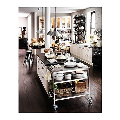 IKEA FLYTTA - carro de cocina, acero inoxidable - 98x57 cm: Amazon.es: Hogar