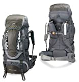 High Peak USA Alpinizmo Everest 75+10 Backpack, Grey, Outdoor Stuffs