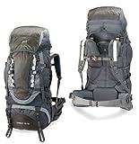 High Peak USA Alpinizmo Everest 75+10 Backpack, Grey, Outdoor Stuffs