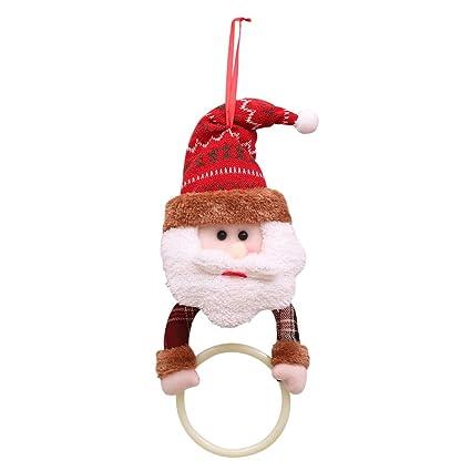 BESTOYARD Anillo de Toalla de baño de Navidad suspendida toallero Porte-pendentif Anillos de Cuarto