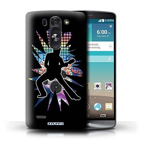 Kobalt® Imprimé Etui / Coque pour LG G3 S (Mini)/D722 / étendre Noir conception / Série Rock Star Pose