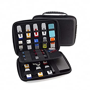 8a849d5479db GUANHE USB Drive Organizer Electronics Accessories Case Shuttle with Cable  Tie   Hard Drive Bag