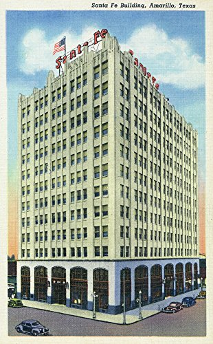Amarillo, Texas - Santa Fe Building Exterior View (24x36 SIGNED Print Master Giclee Print w/Certificate of Authenticity - Wall Decor Travel Poster) ()