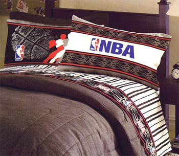 Amazon.com: NBA Pro Sheet Set 4pc Full Basketball Bedding Sheets ...