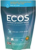 Earth Friendly Products ECOS Free and Clear Laundry Detergent Pods, 20 Loads, 17.98 Ounce