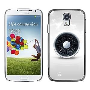 Paccase / SLIM PC / Aliminium Casa Carcasa Funda Case Cover para - Jet Engine - Samsung Galaxy S4 I9500