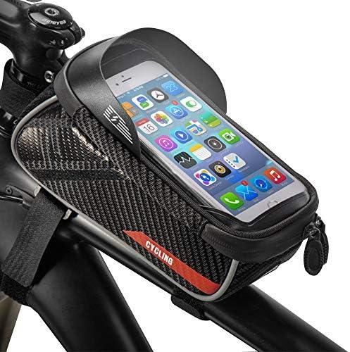 Rhinowalk Bike Bag Bike Top Tube Bag Bike Frame Bag Waterproof and Stable Bicycle Frame Bag Bicycle Bag Professional Cycling Accessories ,Black