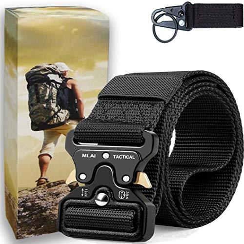 Tactical Belts for Men Nylon Belts for Men Heavy Duty Webbing Belt Military Belt Style Quick Release Belt with Adjustable Army/Police/Women Kids (M (Waist 36