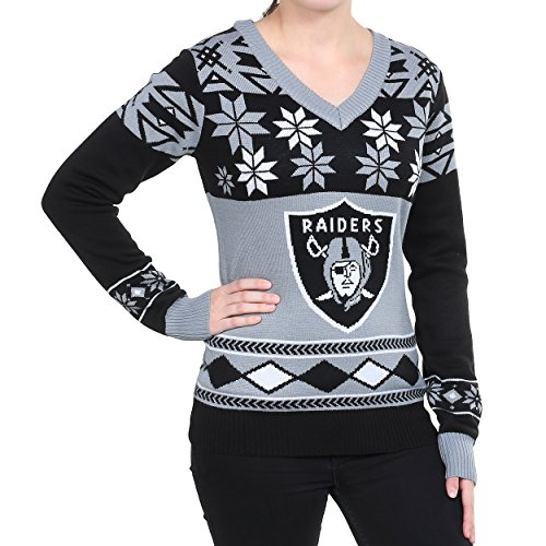 Amazoncom Nfl Womens V Neck Sweater Oakland Raiders Small