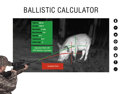 ATN ThOR 4 Ballistic Calculator