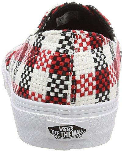 Adulte White Black true Decon checker Vans Authentic Baskets Plaid Basses Nero Mixte wXzq64zP
