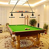 LAKIQ 3 Lights Island Light Hanging Pool Table