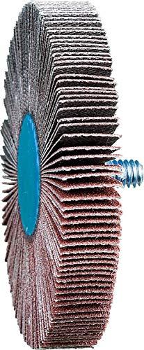 PFERD 45432 3'' x 1/2'' Quick Change Flap Wheel 1/4-20 Thread - Aluminum (10pk)