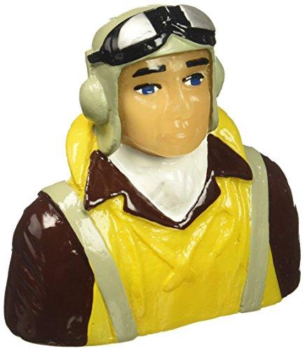 Hangar 9 1/6 Scale WWII Pilot with Vest Helmet & Goggles Hangar 9 Scale